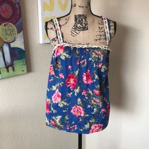 Anthropologie Lili's Closet Floral Tank Top